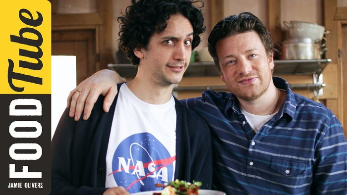 Big brunch pancakes: Jamie Oliver & French Guy Cooking