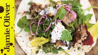 Grilled lamb kebabs: Jamie Oliver