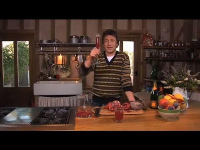 Christmas pomegranate cocktail: Jamie Oliver