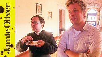 Baked almond tart: Jamie Oliver
