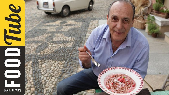 Classic Italian risotto with strawberry & balsamic: Gennaro Contaldo