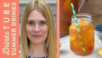Fruity peach iced tea recipe: Becky Sheeran