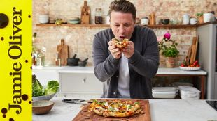 Reverse puff pastry pizza: Jamie Oliver