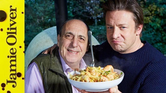 Fresh prawn linguine: Jamie Oliver & Gennaro Contaldo