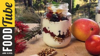 Fruit & muesli yogurt parfait: Dani Stevens