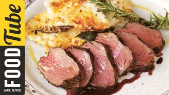 Pan roasted venison: Jamie Oliver
