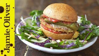 Super food tofu burger: Jamie Oliver