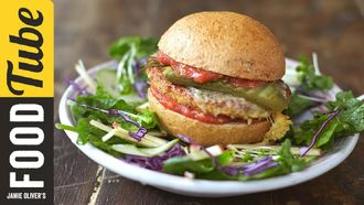 Super food tofu burger: Jamie Oliver