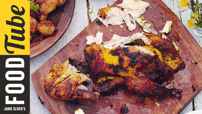 Spicy Indian roast chicken: Jamie Oliver
