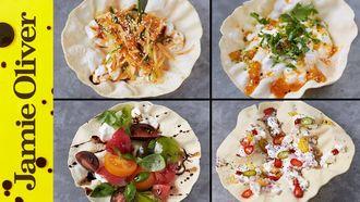 100 calorie poppadom snacks: Jamie Oliver