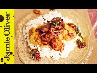 Aubergine daal & homemade chapattis: Jamie Oliver