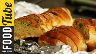 Homemade garlic bread: Kerryann Dunlop