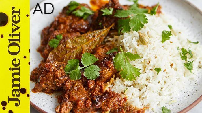 Lamb balti curry: Jamie Oliver