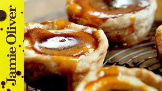 Quick Portuguese custard tarts: Jamie Oliver