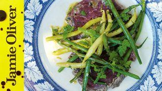 Beef carpaccio salad: Jamie Oliver