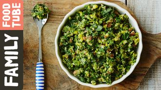 Beans, sweetcorn & spinach puree: Michela Chiappa