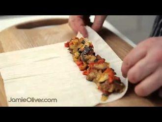 How to make ratatouile style briouats: Jamie's Food Team