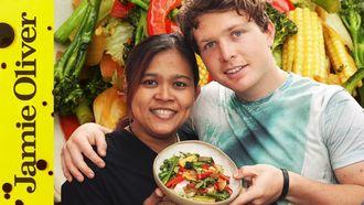 Vegetable stir fry: Tim Shieff & Poo