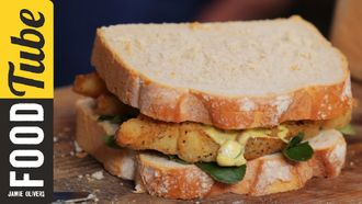 Southern fried fish finger sandwich: Aaron Craze