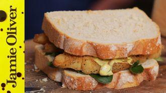 Southern fried fish finger sandwich: Aaron Craze