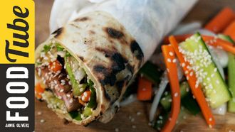 BBQ pork fillet wrap: Aaron Craze