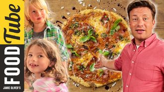Quick family pizza: Jamie, Petal & Buddy Oliver