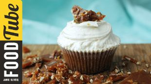 Banana, Maple & Pecan Cupcakes