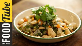 Butter bean salad: Aaron Craze