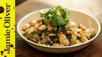 Butter bean salad: Aaron Craze