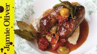 Oven baked sausage ragu: Jamie Oliver