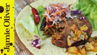 Vegan burger: Tim Shieff