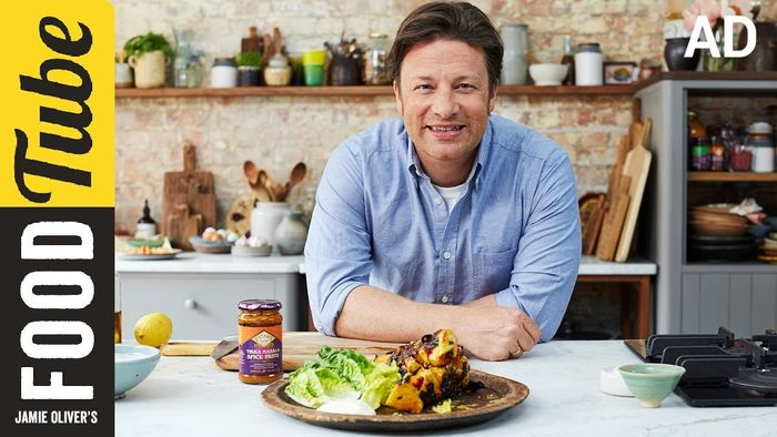 Chicken tikka skewers: Jamie Oliver