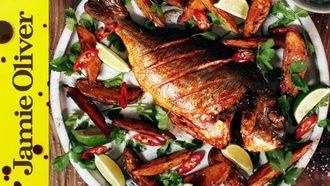Spicy fish & chips: Shelina Permalloo
