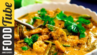 Thai red curry with prawns: Jamie Oliver