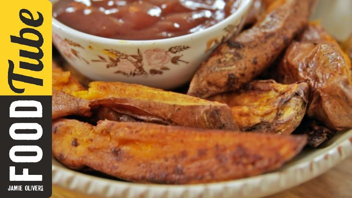 Roast sweet potato wedges: Tim Shieff