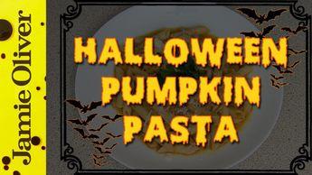 Halloween pumpkin pasta