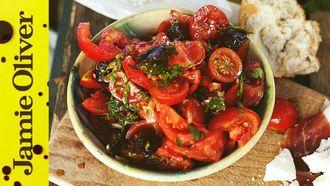 The best tomato salad and chorizo: Jamie Oliver