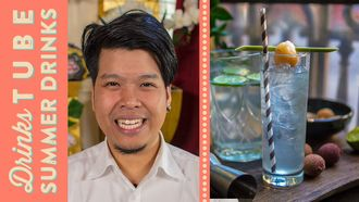 Thai lychee gin & tonic cocktail: Dheeradon Dissara