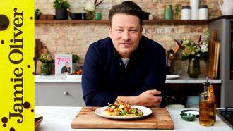 Halloumi eggy crumpets: Jamie Oliver