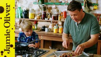 Speedy Sausage Pizza: Jamie Oliver