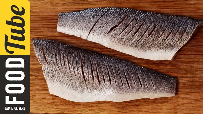 How to fillet a seabass: Jamie Oliver