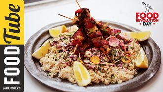 Tandoori chicken kebabs: Jamie Oliver