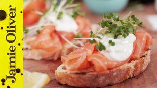 Smoked Salmon & Horseradish Canapes