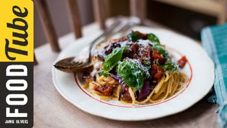 Smashed tomato pasta: Donal Skehan