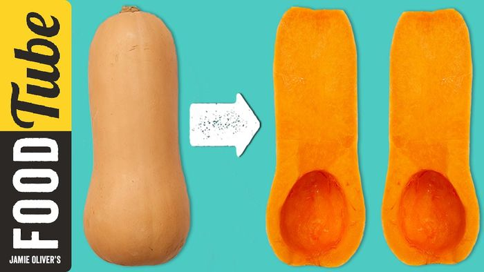 How to prepare a butternut squash: Jamie Oliver