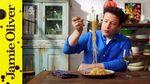 Hot smoked salmon pasta: Jamie Oliver