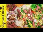Seared beef noodle salad: DJ BBQ