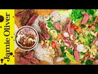 Seared beef noodle salad: DJ BBQ