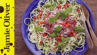 Raw vegan spaghetti bolognese: Amber Locke