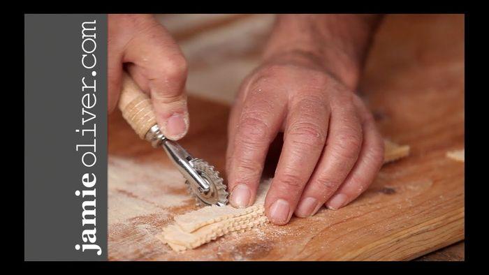 How to shape farfalle pasta: Gennaro Contaldo